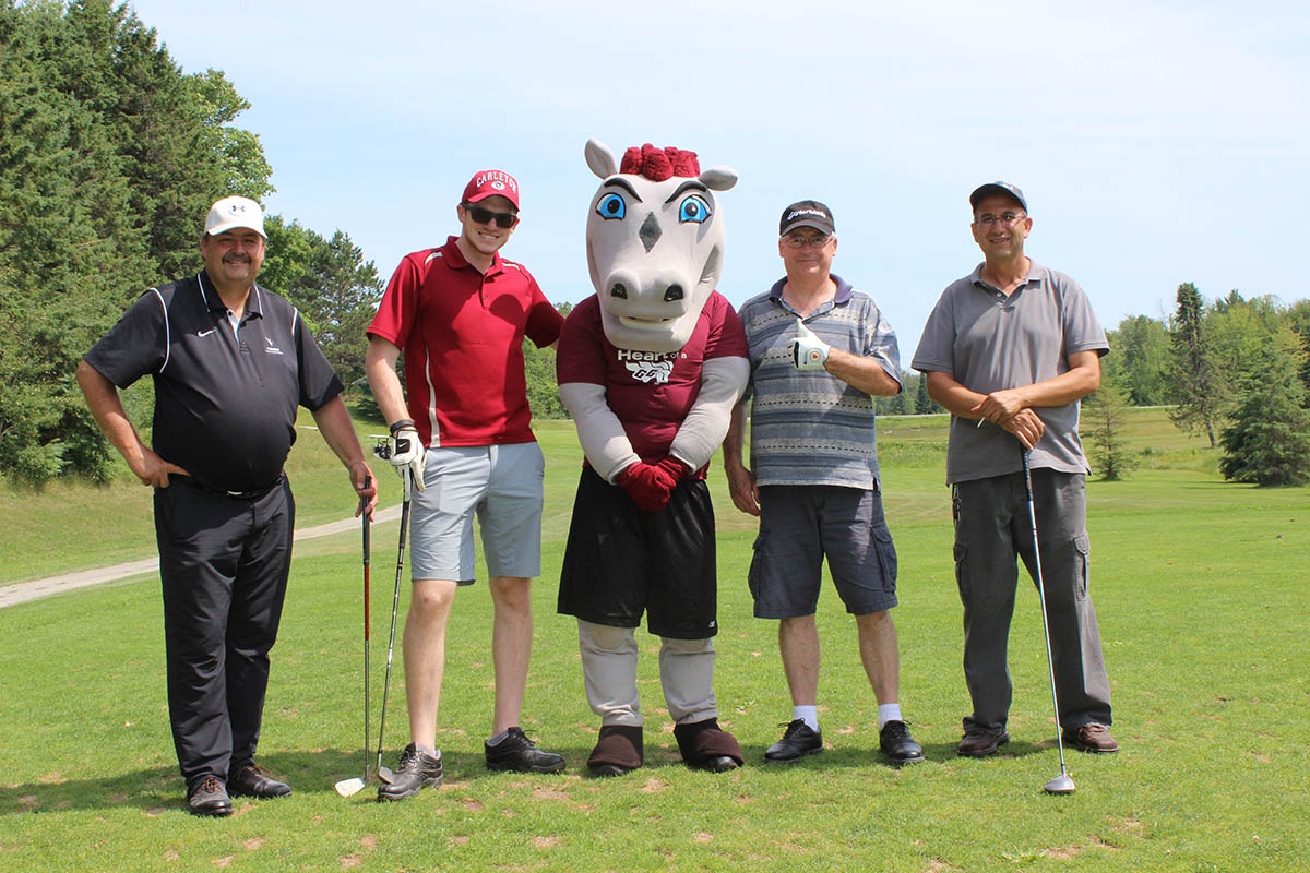 Group with Gee-Gees at the tournament.