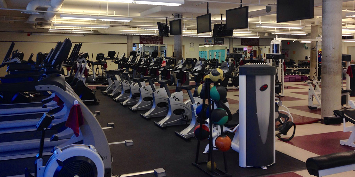 Cardio machines at fitness centre.