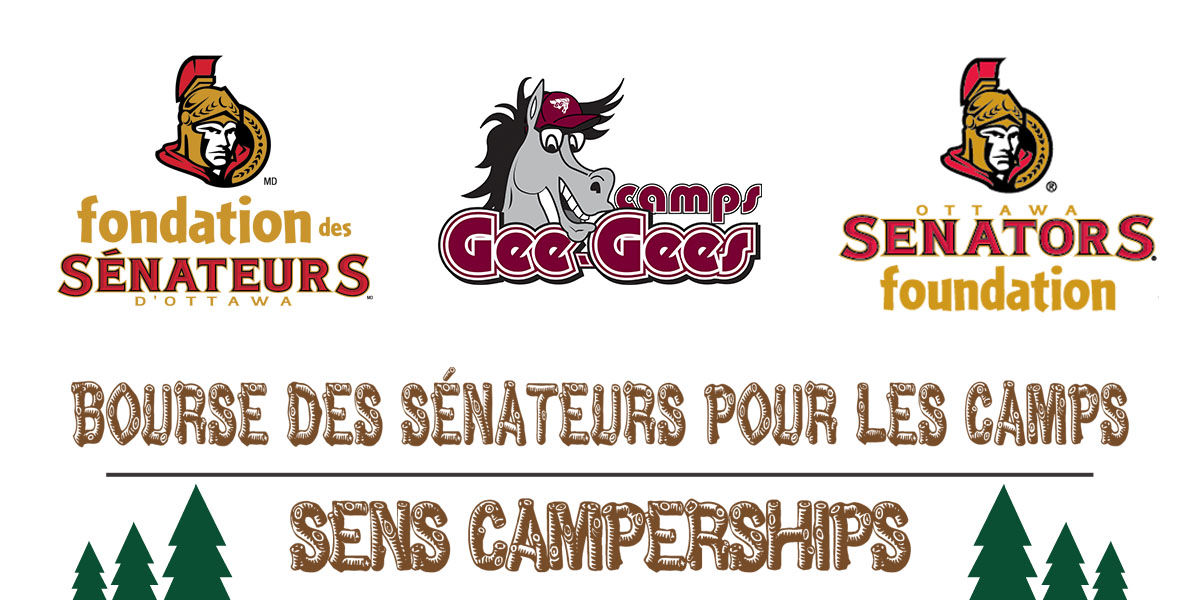 Sens Foundations and Gee-Gees Camps logo.
