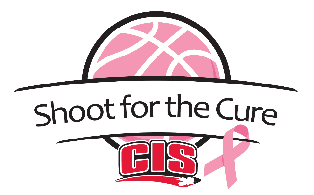 Pink Basketball, CIS Logo, Shoot for the cure.