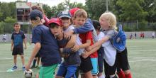 kids at sports camp