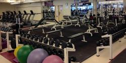 Weights and balls in the Fitness Centre.