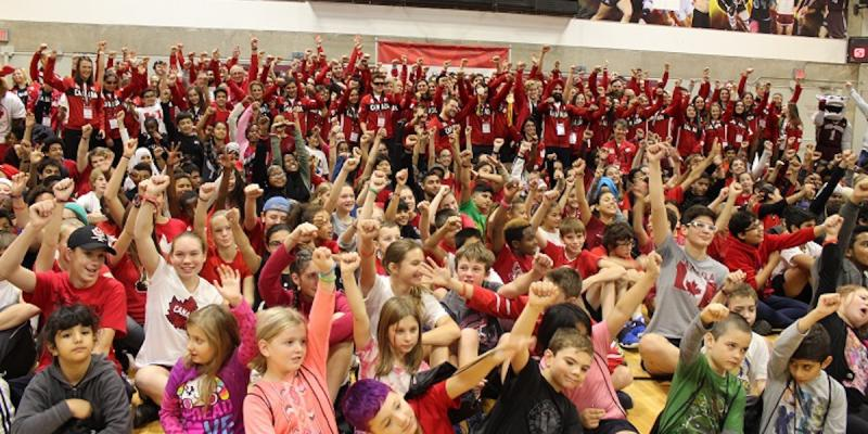 A large group of schoolchildren and athletes gathered at uOttawa on November 2 to celebrate Team Canada's success at the Rio 2016 Olympic and Paralympic Games.