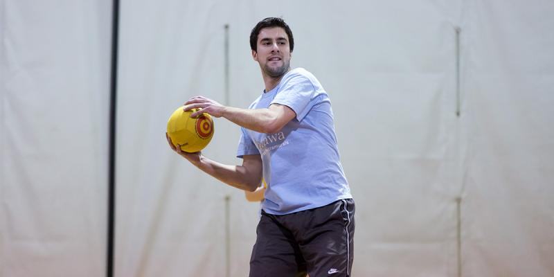 Player getting ready to throw the ball.